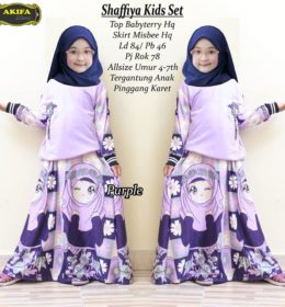 Qonita Kids Dress Purple